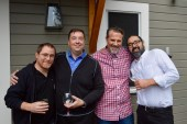 Bromance is in the air! Greg, Charles, Josh, and Leo at the wrap aprty.