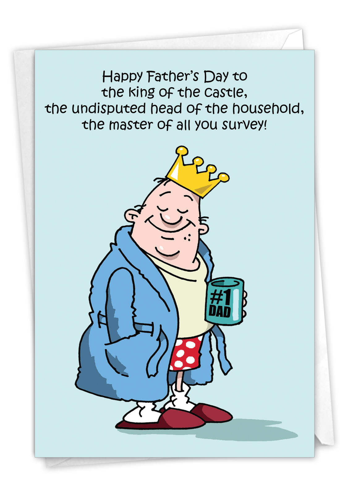 J Jumbo Funny Fathers Day Card King Of The Castle