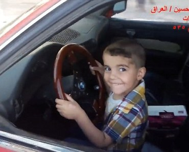 3-Year-Old Boy From Iraq Does Donuts In A BMW!