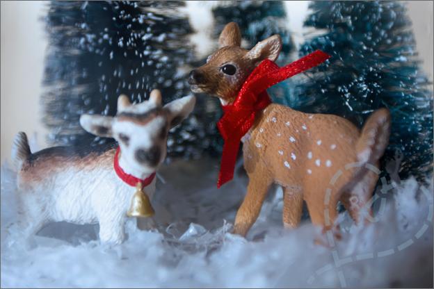 hert en geit kerst DIY