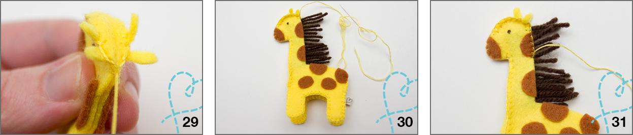 giraffe vilt patroon gratis