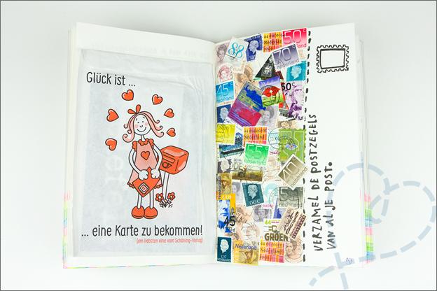 Wreck this journal postzegels