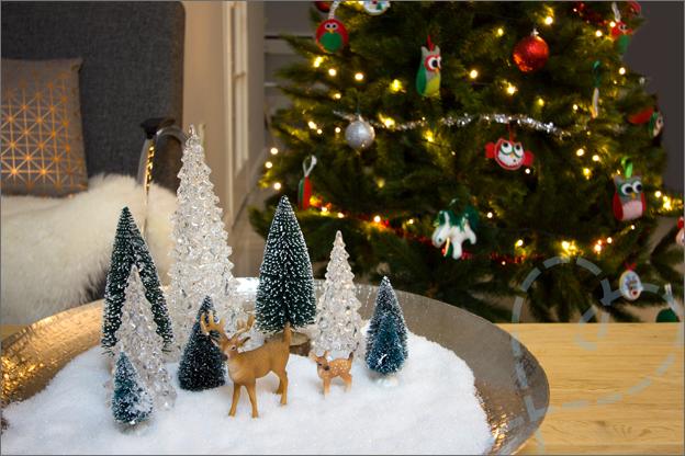kerstschaal en kerstboom