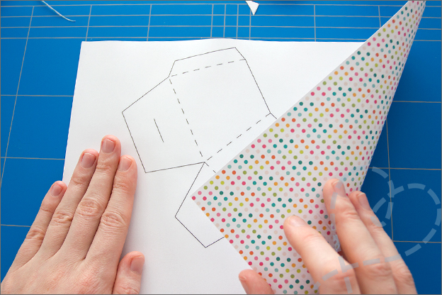 papier printen voor het maken van een doosje