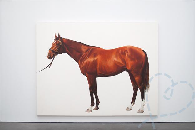 Mark Wallinger racepaarden