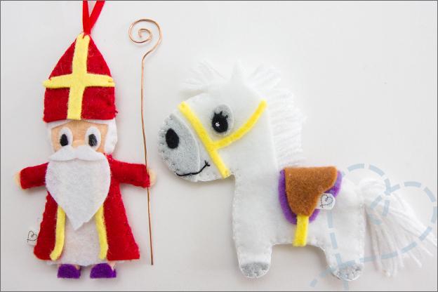 Sinterklaas en Amerigo knutselen