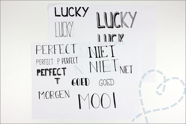 handlettering letters oefenen