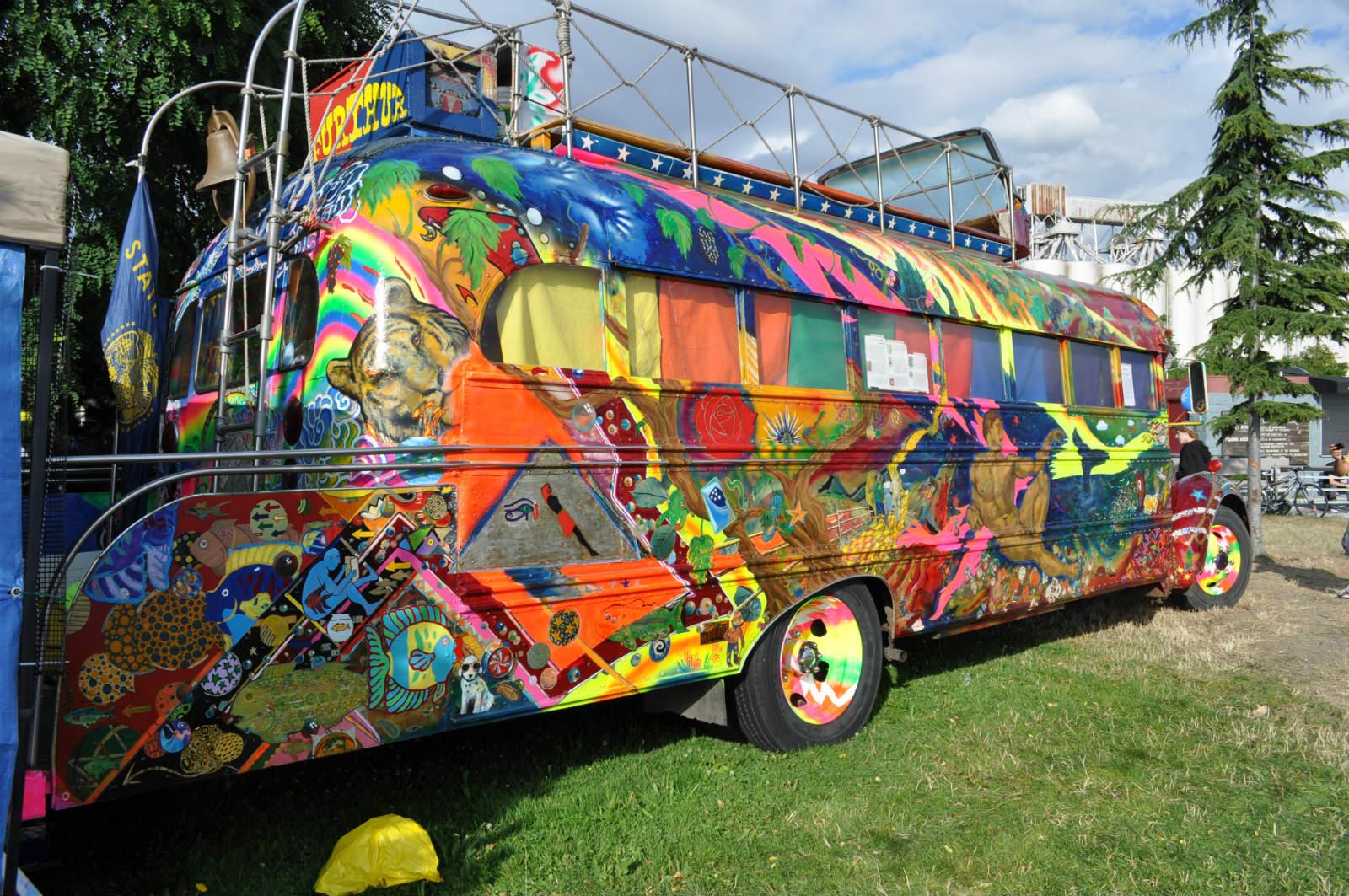 Hippie School Bus