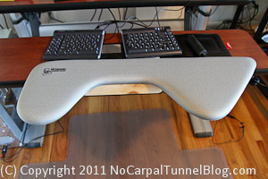ergonomic workstation, ergonomic keyboard, ergonomic wrist rest
