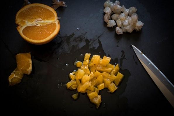 Come tagliare l'arancia per la tartare