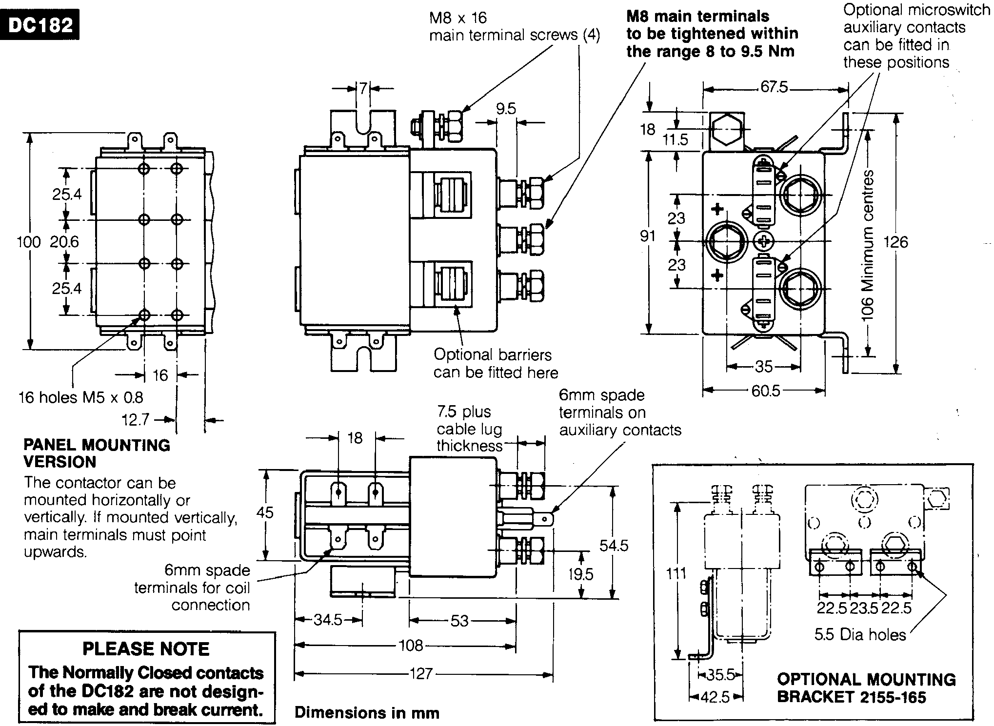 wiring diagram of magnetic contactor trailer lights 4 wire albright dc model dc182b 537t zapi