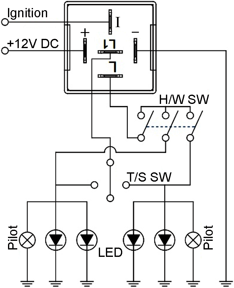 Wiring Manual PDF: 12v Flasher Relay Wiring Diagram