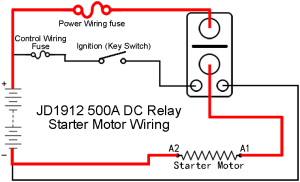 12V  500A Motor Starter, JD1912500A12VDC1AS, Sealed