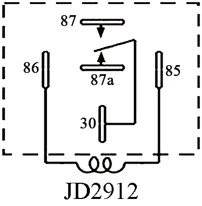 JD2912-S, 60A Sealed Waterproof Bosch Type DC Relay