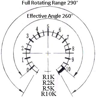 3-Wire Potentiometer 1K / 2K / 5K / 10K