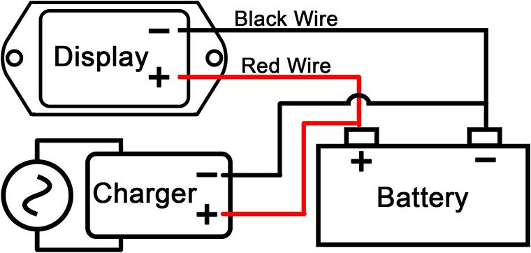 12V / 24V Digital DC Voltage Indicator, Battery Discharge