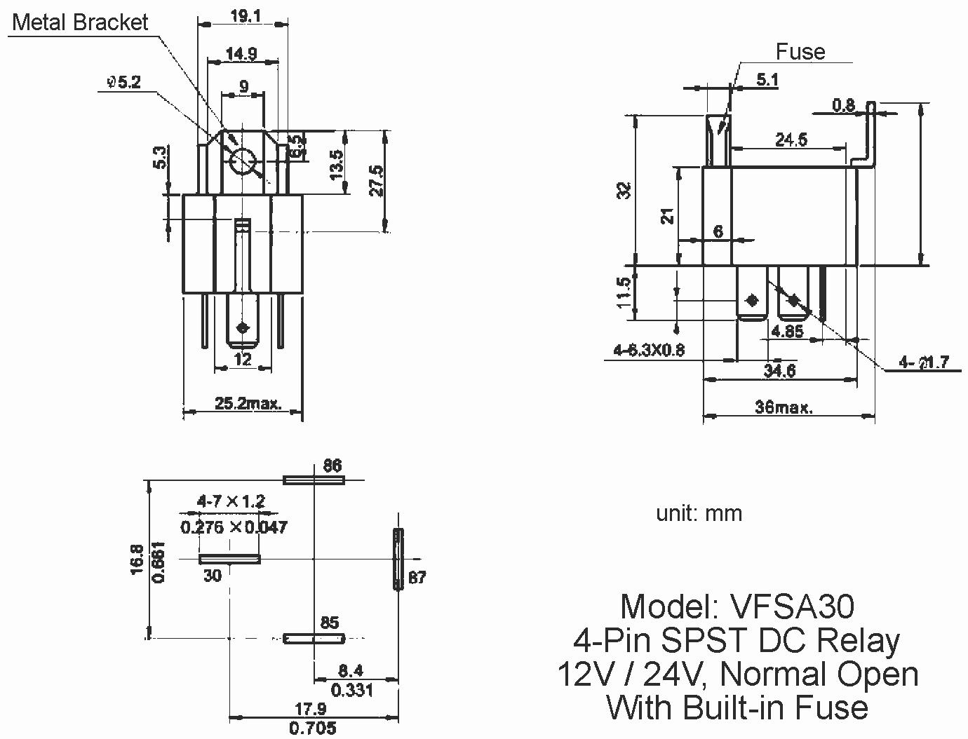 wiring diagram 24v switching relay