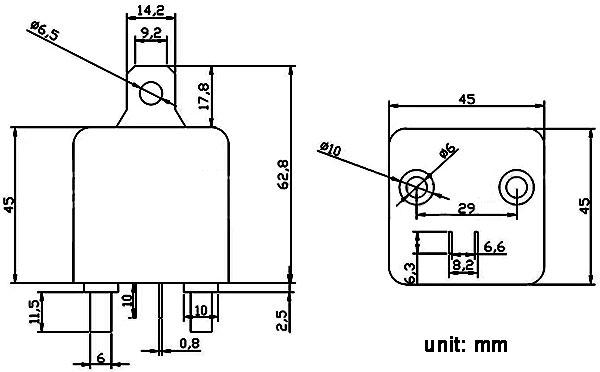 200A Heavy Duty DC Relay ZL180 / RL180 / WM686