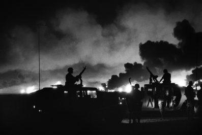 Gulf War Le truppe americane entrano nel Kuwait occupato dello esercito irakeno