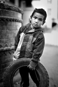 14) Boy playing in Khokana2