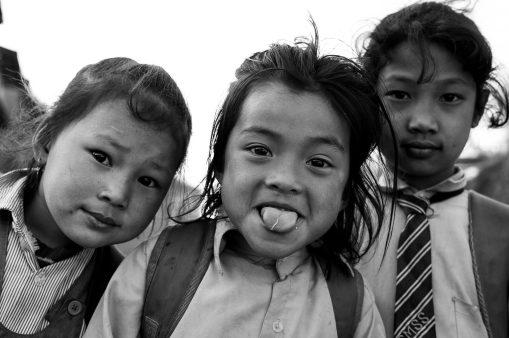 15) Students on the way to school near Namo Buddha