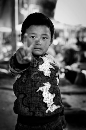 Boy at the market