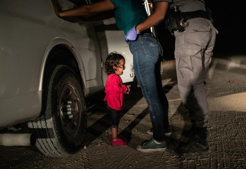 WPP2019 John Moore. Crying Girl on the Border
