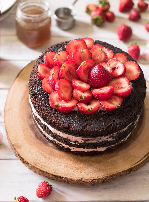 Surprising Dark Chocolate Birthday Cake With Salted Maple Caramel Sauce No Birthday Cards Printable Trancafe Filternl