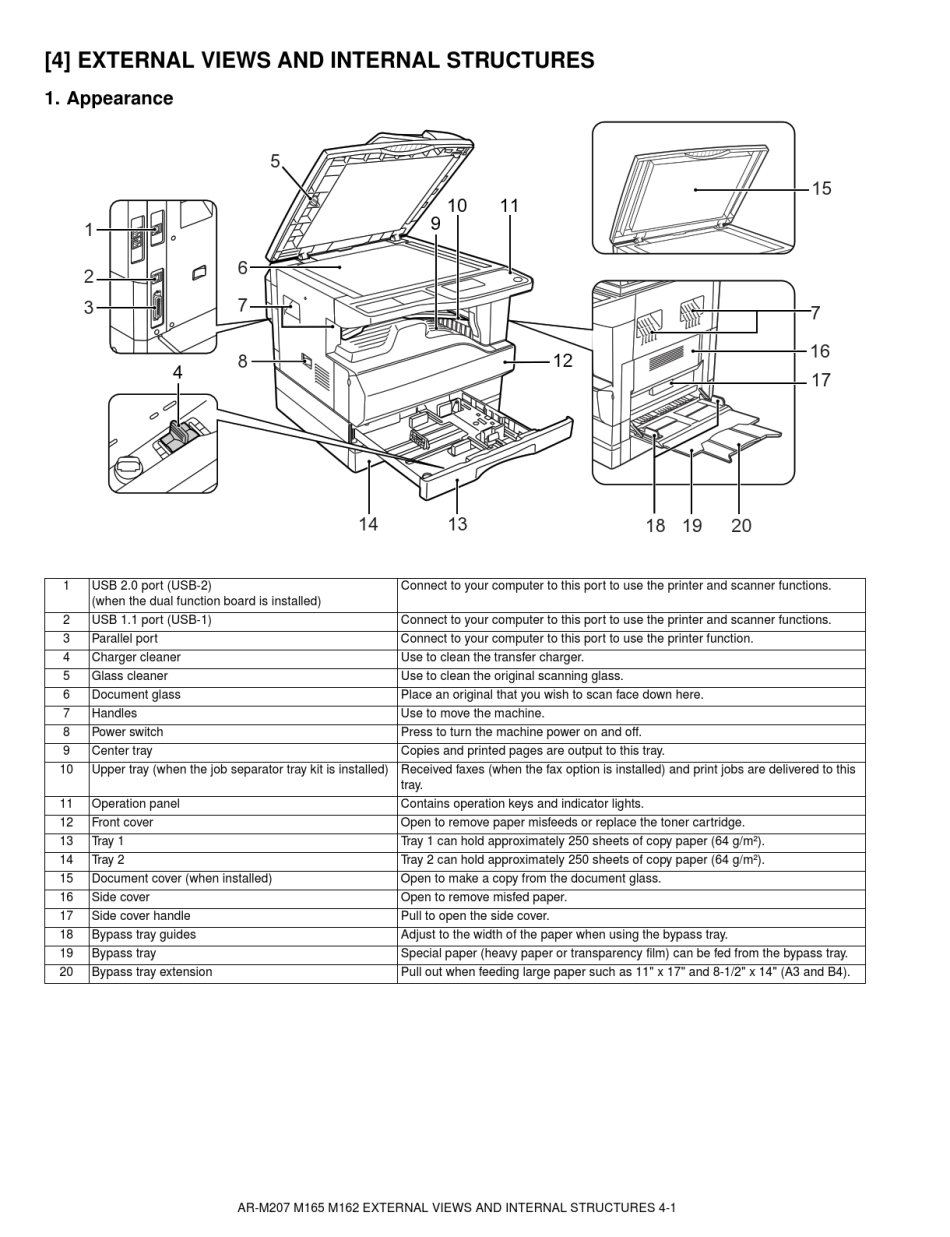 Service Manual Sharp AR-M207 — Download Free