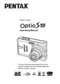 Pentax Optio S10 user manuals download