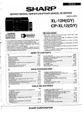 Sharp XL-12H(GY), CP-XL12(GY) Service Manual — download free