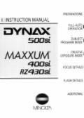 Konica Minolta Dynax 500si user manuals download
