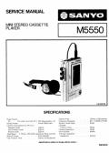 Sanyo M5550 service manuals download