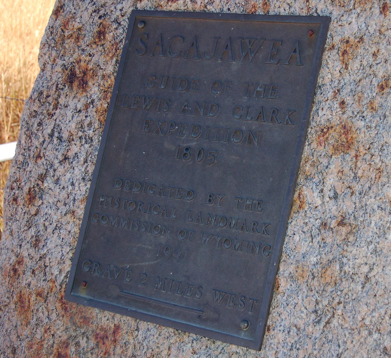 Sacahawea's grave, 2 miles
