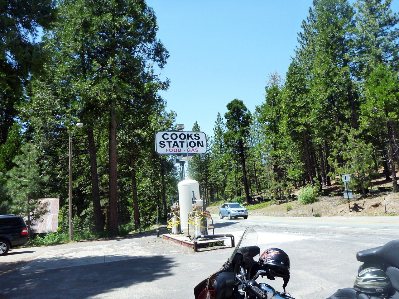Stopping for snacks and water at Cook's Station