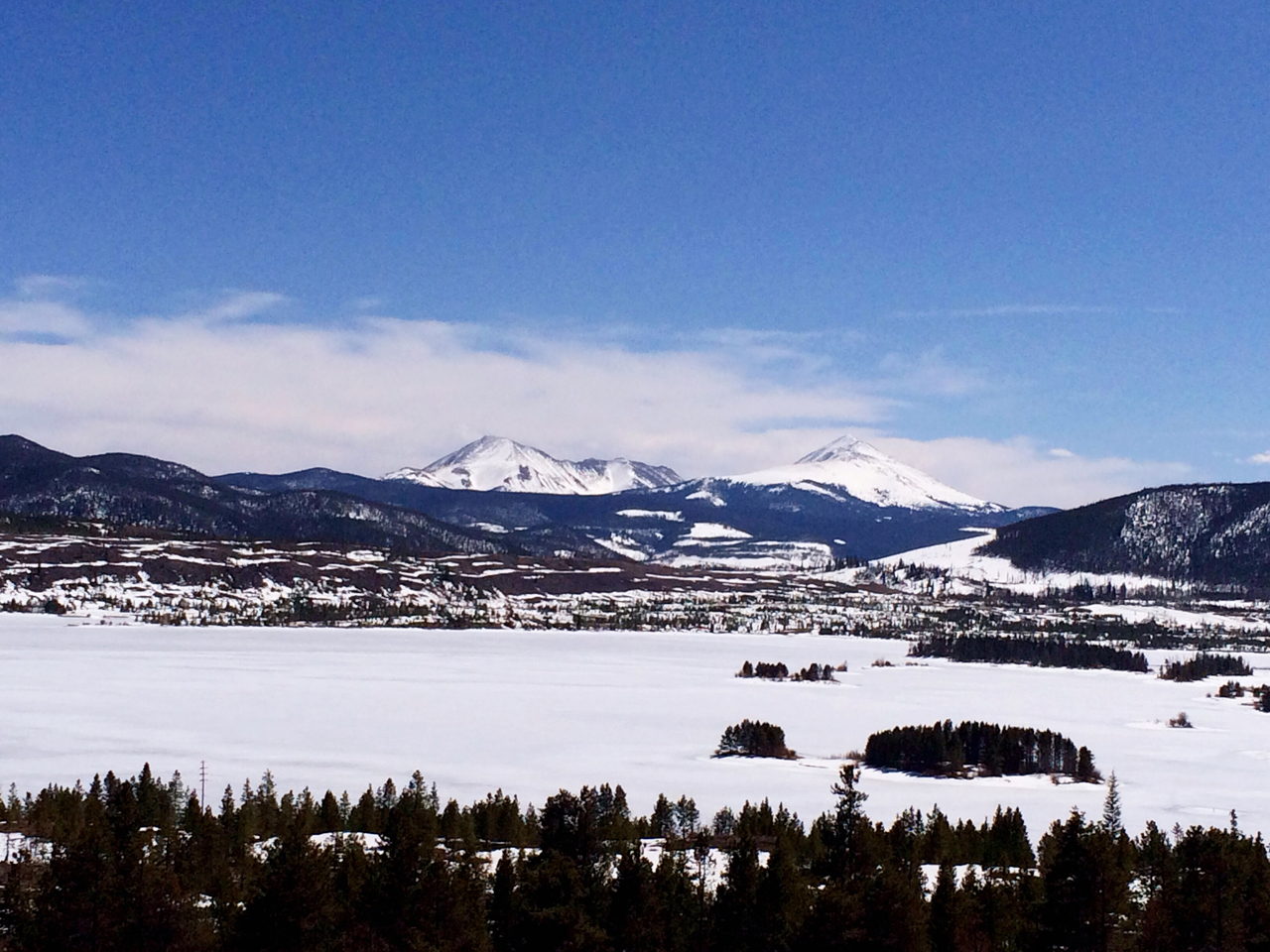 Colorado, you so pretty. Just outside Breckenridge.