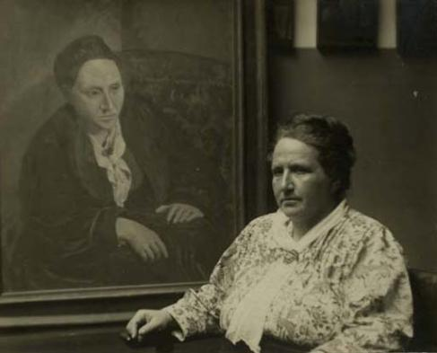G. Stein fotografiada por Man Ray en 1922