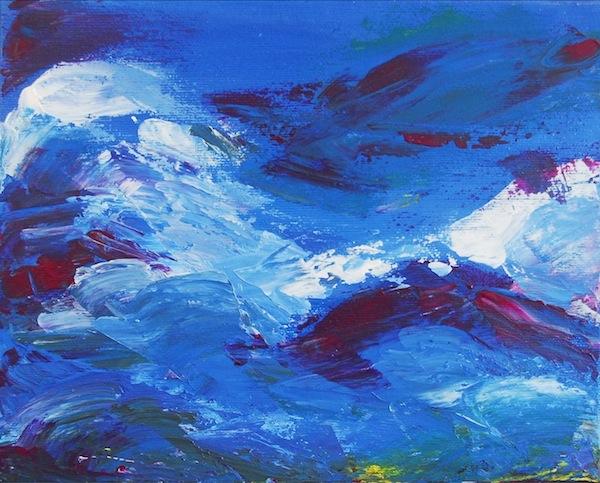 Noel Gazzano (2009) S'io Fossi Foco (If I was Fire). Acrylic on canvas, 25x35 cm