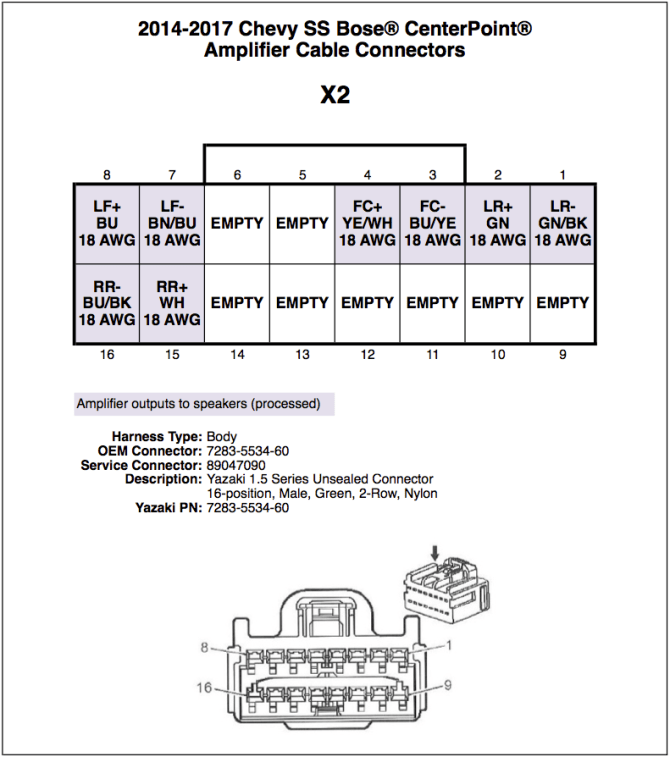 bose amp wiring diagram chevy  description wiring diagrams