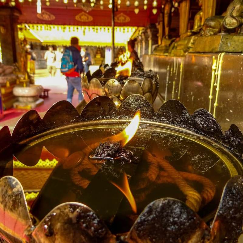 flames Doi Suthep temple Things to do in North Thailand