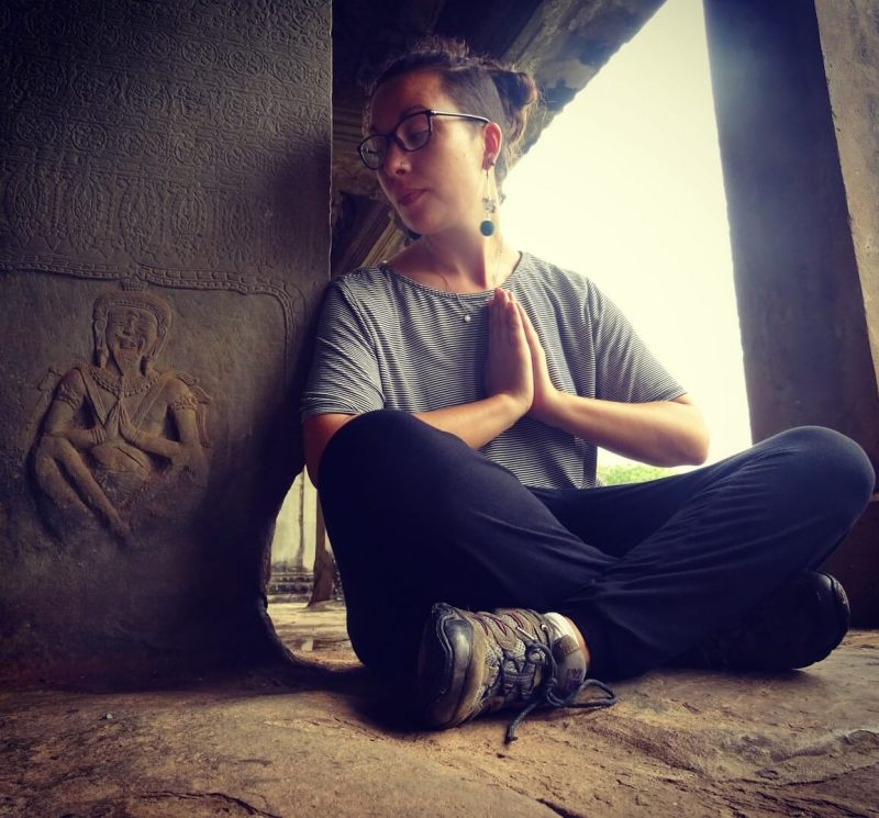 Posing at Angkor Wat