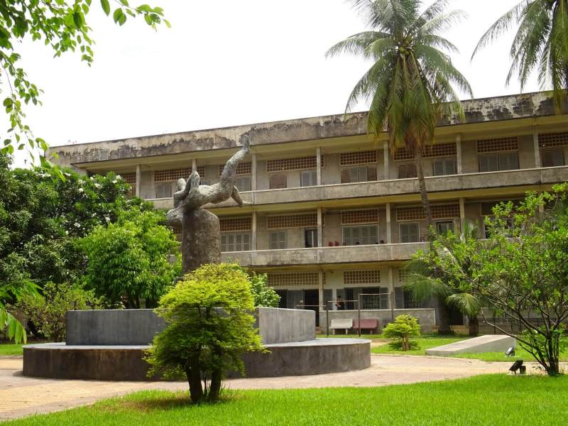 One of the buildings at Tuol Sleng Genocide Museum