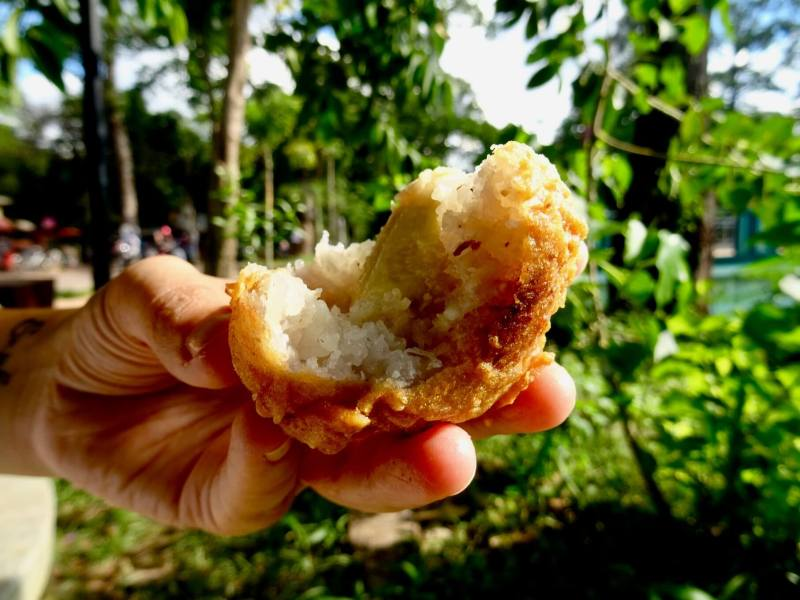 street food banana coconut ball