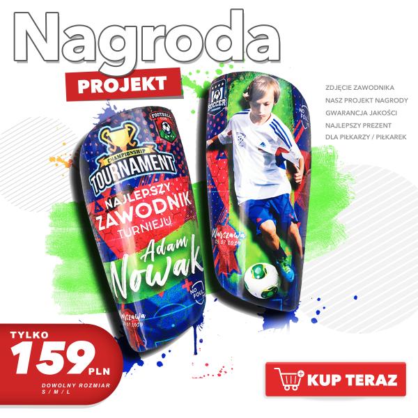 Personalizowane piłkarskie ochraniacze Nagroda w turnieju piłkarskim dla najlepszego zawodnika turnieju PL - 159 pln-min