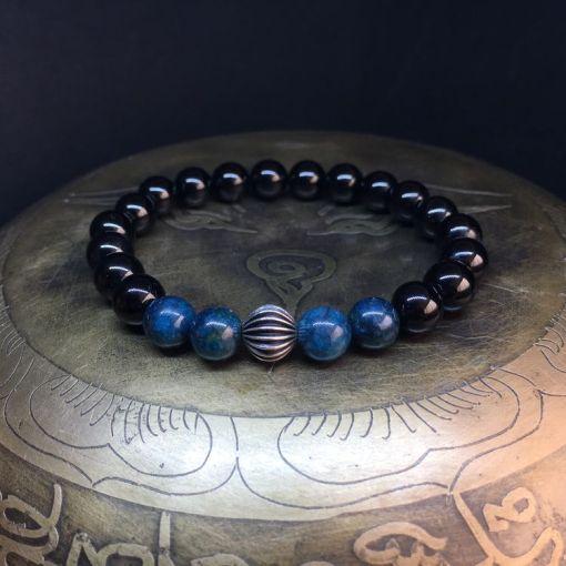 Bracelet-apatite-onyx