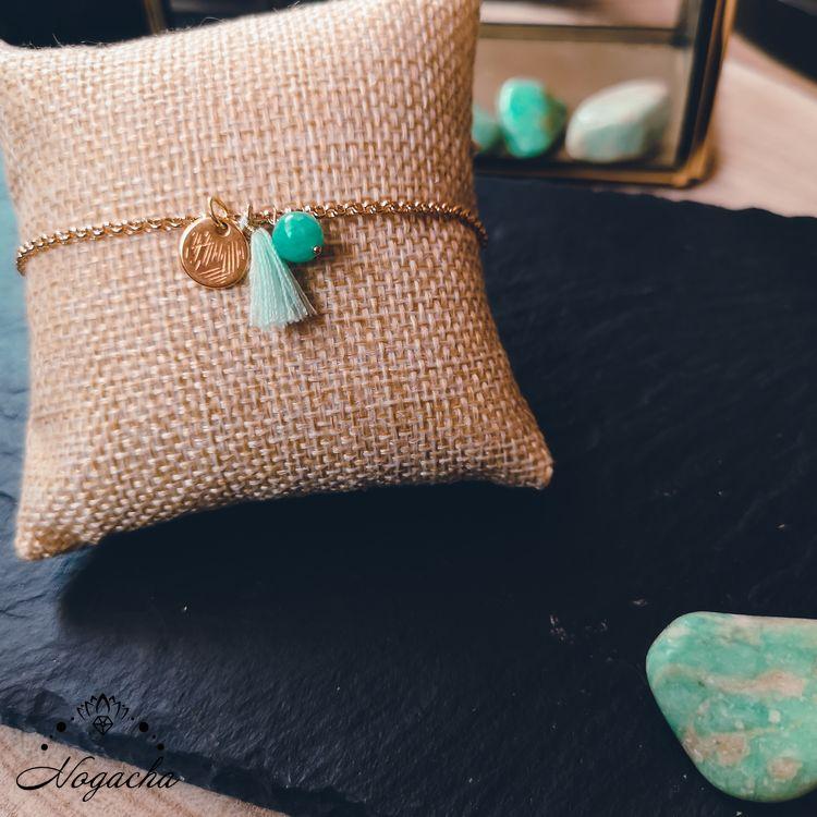 bracelet-leggero-amazonite-plaque-or-pompon