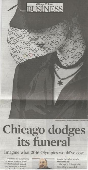 Chicago dodges its funeral+logo