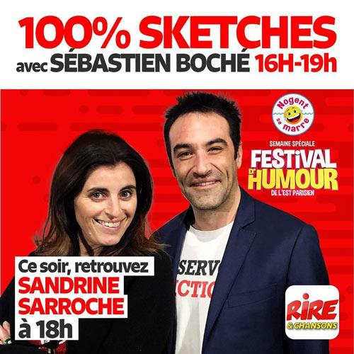 Sandrine Sarroche sur Rire et Chansons