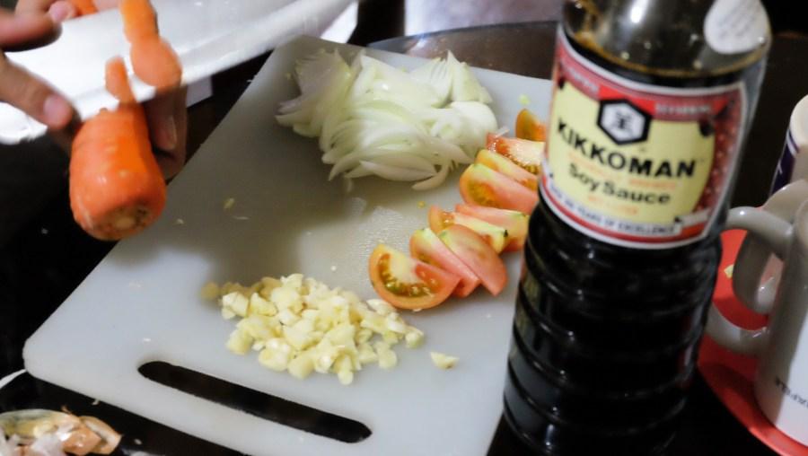 cooked with kikkoman