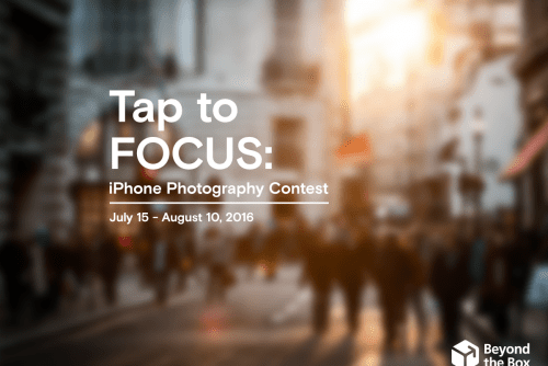 Beyond the Box Launches Tap to Focus: An iPhone Street Photography Contest